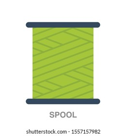Spool flat icon on white transparent background. You can be used spool icon for several purposes.