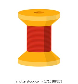Spool sewing thread icon. Cartoon of spool sewing thread vector icon for web design isolated on white background.