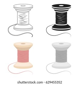 Spool of thread icon of vector illustration for web and mobile