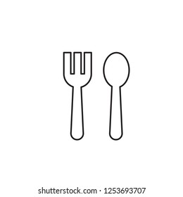 Spoon and fork, eat, restaurant, food icon vector. kitchen utensil spoon fork