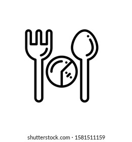Spoon And Fork Icon Outline Vector. Holiday Sale Icons. Online Shop Ikon.