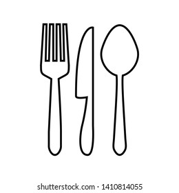 spoon and fork icon vector design template