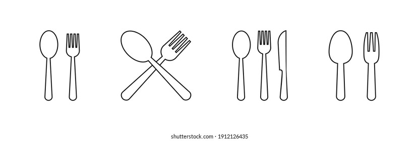 spoon and fork icon vector. spoon, fork and knife icon vector. restaurant icon