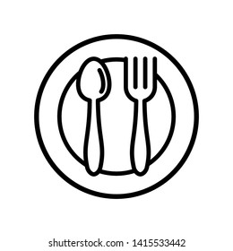 Spoon and fork Icon vector templates