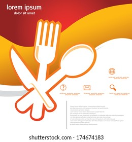Spoon fork knife ,food  template