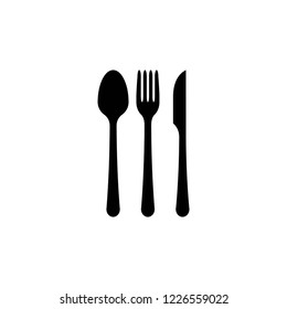 spoon, fork and knife icon, icons vector eps10 editable
