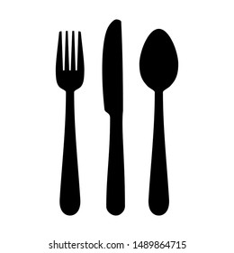 Spoon, fork and knife icon isolated on white background. Spoon, fork and knife icon in trendy design style. Spoon, fork and knife icon vector illustration.