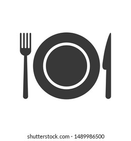 Spoon, Fork and Knife icon template color editable. Spoon, Fork and Knife symbol vector sign isolated on white background.