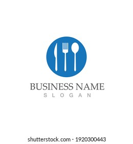 spoon and fork logo and symbol vector