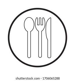 spoon and fork logo vektor template