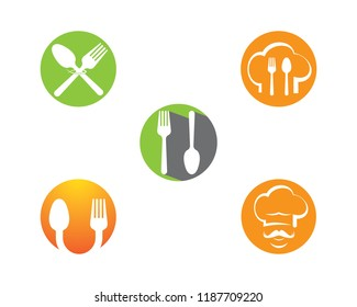 Spoon and fork symbol illustration