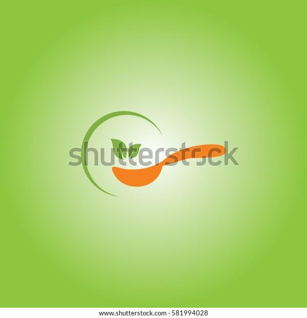 spoon icon element logo eco