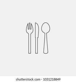spoon icon vector illustration. knife icon vector