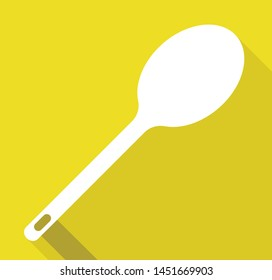 SPOON vector icon isolated on yellow background