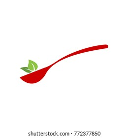 spoons and leaves logo