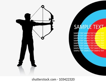Sport archer background - vector illustration