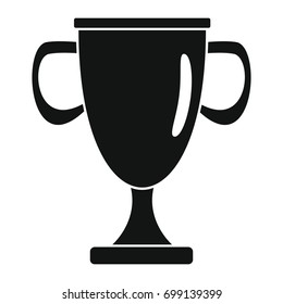 Sport award cup in black simple silhouette style icons vector illustration for design and web isolated on white background. Sport award vector object for labels and logo