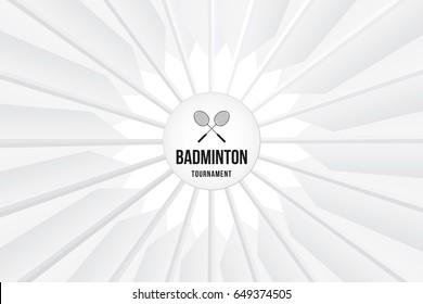 Sport background with badminton tournament. Vector illustration