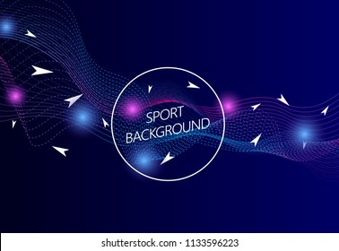 Sport background. Modern sport background for web site, wallpaper, poster, placard and ad. Useful for backdrop, cover, banner and print materials. Creative art concept, vector illustration, eps 10