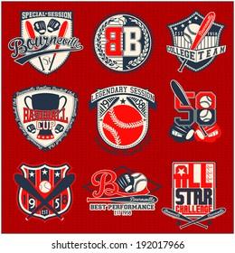 sport badge set