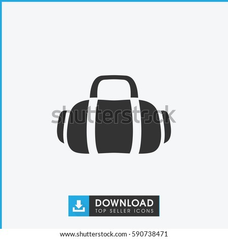 Royalty-free stock vector images ID  590738471. sport bag icon. Simple  filled sport bag vector icon. On white background. - Vector 7b31df3fbf0fe