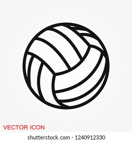 Sport ball icon. Flat vector illustration isolated on background