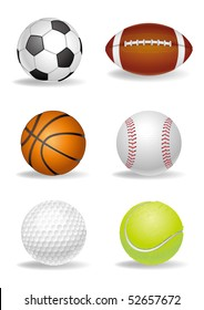 sport ball on a white background