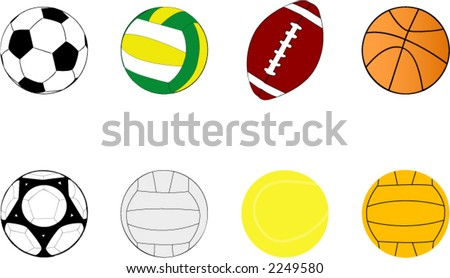 sport balls clipart stock vector royalty free 2249580 shutterstock rh shutterstock com sports balls clip art free sports balls border clipart