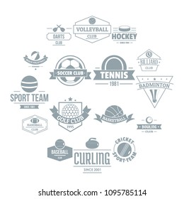 Sport balls logo icons set. Simple illustration of 16 sport balls logo vector icons for web