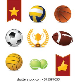 Sport Balls. Set of Sport Balls.