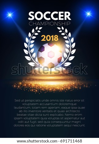 sport banner template realistic soccer ball stock vector royalty