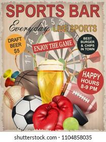 Sport bar poster.