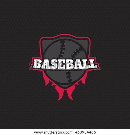 Sport Baseball Badge Logo Templates Label Eps10
