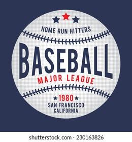 Sport baseball typography, t-shirt graphics, vectors