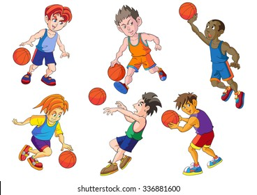 Sport basketball cartoon vector design