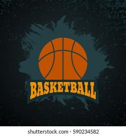 Sport basketball grunge design vector Illustration eps 10
