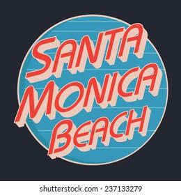 Sport beach typography, t-shirt graphics, vectors