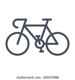 Sport bicycle, vector illustration in flat style