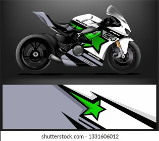 Sport Bike. sticker decal design. Abstract background vector concept for vehicle vinyl wrap