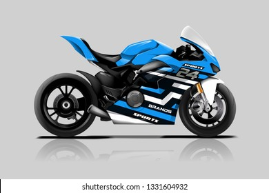 Sport bike wrap design vector. ready print concept for vinyl wrap and motorcycle decal