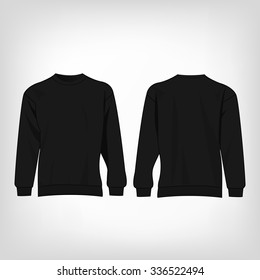 Sport black sweater isolated vector