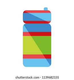 Sport bottle water icon, hydro flask, vector illustration, white background. EPS 10.