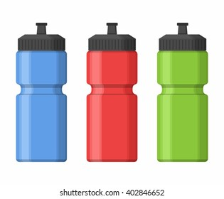 Sport bottles icon for water icon in flat style isolated on white background. Sipper vector