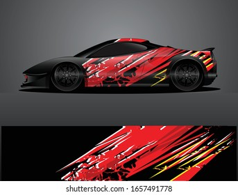 sport car decal graphic wrap vector, abstract background