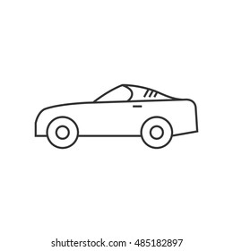 Car Icon Outline Illustration Of Car Vector Icon For Web Isolated