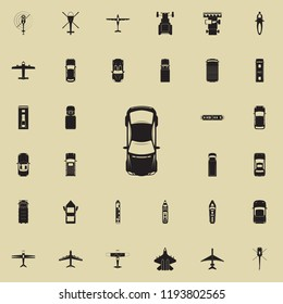 sport car icon. Transport view from above icons universal set for web and mobile