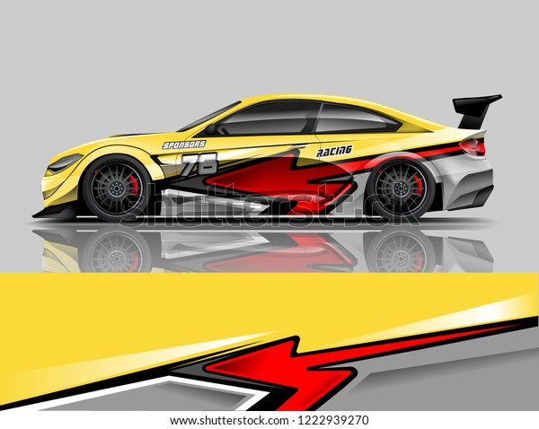 Sport Car Livery Design Car Wrap Stock Vector (Royalty Free