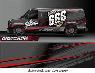 sport car livery graphic vector. abstract race style background design for vehicle vinyl wrap and car branding