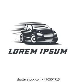 Sport Car Logo Emblem Badge Icon Illustration On White Background Race