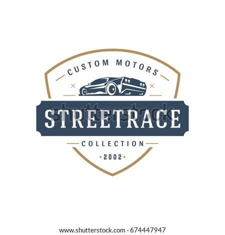 Sport Car Car Logo Template Vector Stock Vector Royalty Free